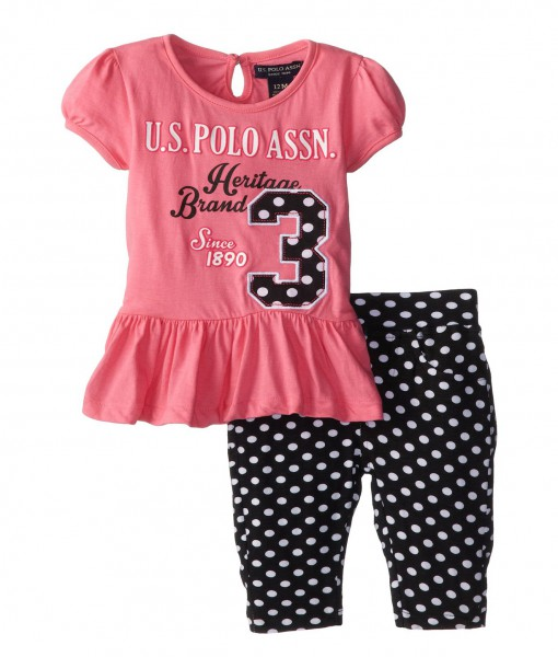 Unique Baby Clothes For Girls Delectable US Polo Assn BabyGirls Infant Bubble Top And Baby Girl Leggings